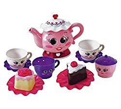Batteries required: 2 x AA (not included) plus . For ages 2 years and over. this children's tea set is all about