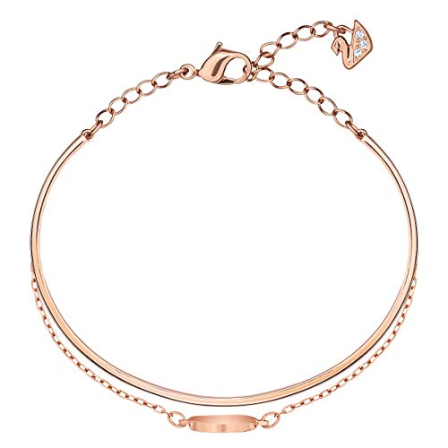 Swarovski Ginger Women's Bangle with White Crystals in a Rose-Gold Tone Plated Setting