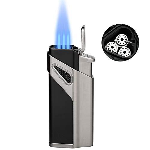 butano cigarrillo lighters-jet llama Gas butano Gas TORCH microtorch-black A-One Gas Herramienta recargable linterna lighter-cigar lighter-pocket cigar-lighter torch-flame lighter-butane Lighter