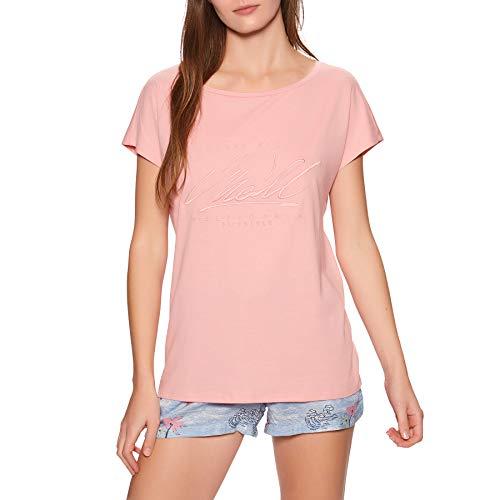 O'NEILL Camiseta para Mujer Essentiall Graphic tee, Mujer, Camiseta, 1A7314, Rosa Bridal, Extra-Small