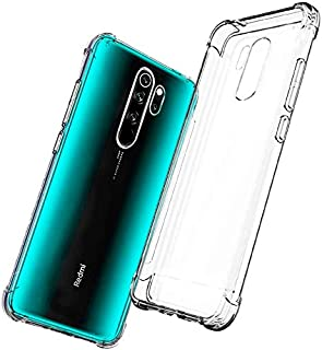 Cover for Xiaomi Redmi 9 Case,[Strengthen Version with Four Corners] [Camera Care Protection] Shockproof Soft TPU Rubber S...