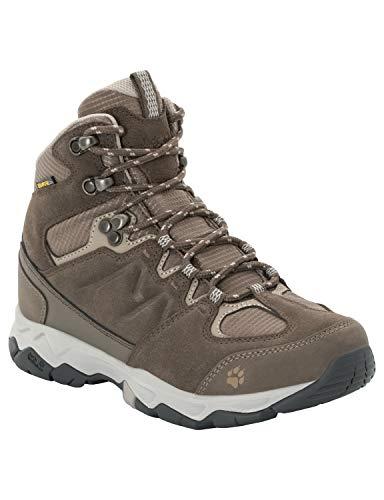 Jack Wolfskin Damen MTN Attack 6 Texapore MID W Wasserdicht Trekking- & Wanderstiefel, Braun (Coconut Brown/Grey 5222), 42.5 EU