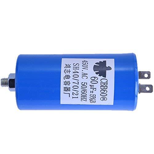 CBB60 Run Capacitor 450V AC 60uF 80 uF 60MFD, 50 / 60Hz, W/Fixing Stud