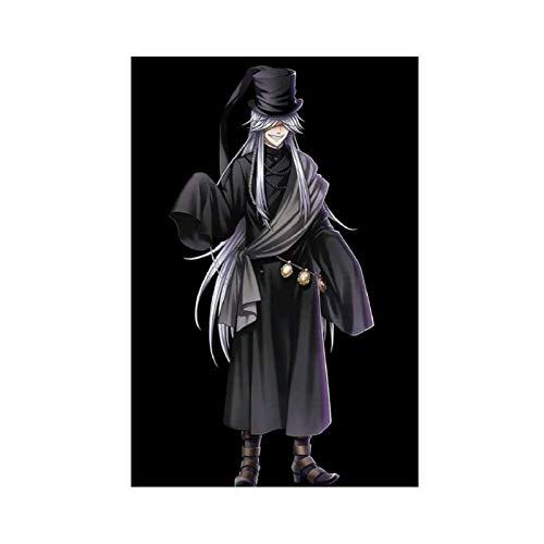 Anime-Poster Black Butler Undertaker 1 Leinwand-Poster, Wandkunst, Dekordruck, Gemälde für Wohnzimmer, Schlafzimmer, Dekoration, 30 x 45 cm, ohne Rahmen