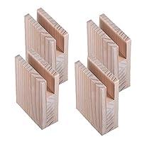 木製ベッドレイザー家具の高さソリッドパイングルーブデザインレッグリフティングテーブル家具レッグレッグチェア、4個セット(3cmSlot width 1.5cm)