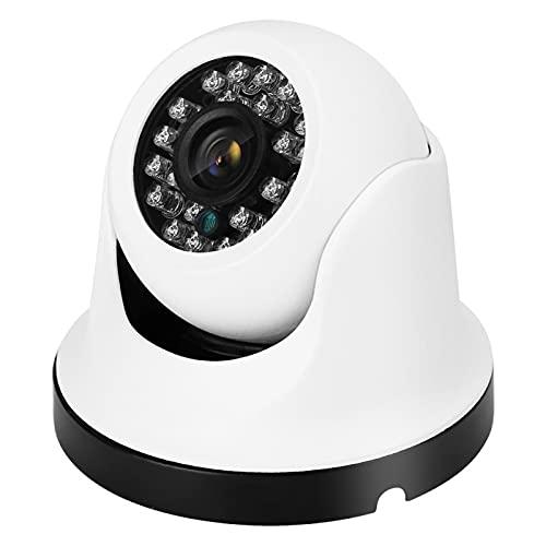 Tomanbery Metal de Alta definición de vídeo en Color de la cámara Domo Recargable de Larga duración para la Seguridad en el hogar(5MP)