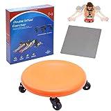Sunsign Disque Total Core Fitness Roller pour exercices abdominaux avec tapis pour genoux AB et système d'exercice complet du corps sous-verres pour exercices abdominaux Facile à monter Orange
