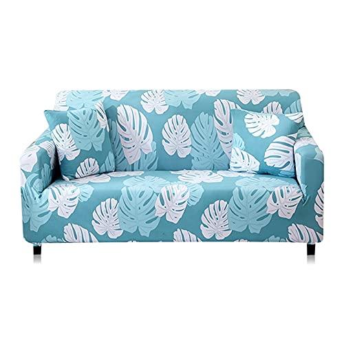 ASCV Funda de sofá elástica geométrica para Sala de Estar Funda de sofá de Esquina seccional Moderna Funda Antideslizante para sofá A2 3 plazas