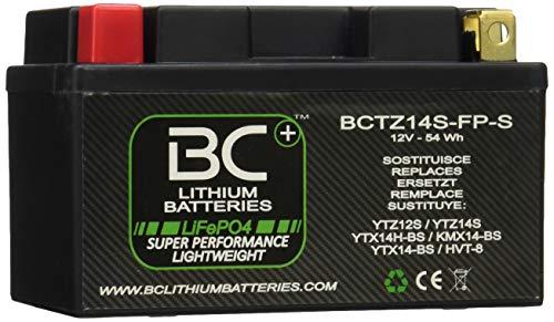 BC Lithium Batteries BCTZ14S-FP-S Batterie Moto au Lithium LiFePO4, Black, 1
