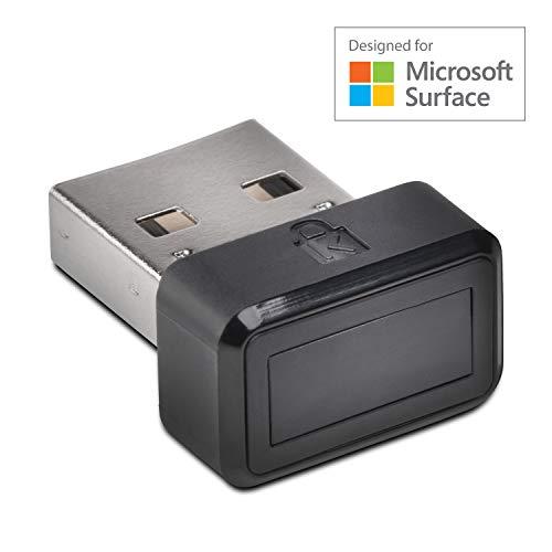 Kensington VeriMark für Microsoft Surface, Moderne Sicherheit - USB Fingerabdruckverschlüsselung für Windows Anmeldung (Windows Hello) mit Zwei-Faktor-Authentifizierung (U2F), K64707EU