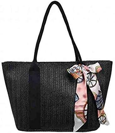 Women Woven Shoulder Bag Handbag Straw Tote Bag Summer Rattan Bag Purse for Beach Travel