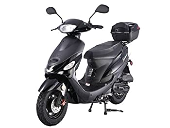TAO 49cc / 50cc street legal fully automatic scooter moped with a Matching trunk - Choose your color