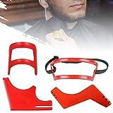 Beard Shaping and Haircut Tool Kit 4 PCS, Beard Shaper Template Guide, Beard Guide Shaping Tool, Hairline Template Stencil, Mustache Edge Shaving Template for Men Hair Styling Beard Trimming Tool