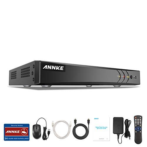 ANNKE DVR 8 Kanal 4K HD 5in1 TVI/AHD/CVI/CVBS/IPC DVR Receiver Netzwerk Digital Video Recorder für CCTV Überwachungskamera P2P HDMI VGA Ausgang,Smart Search