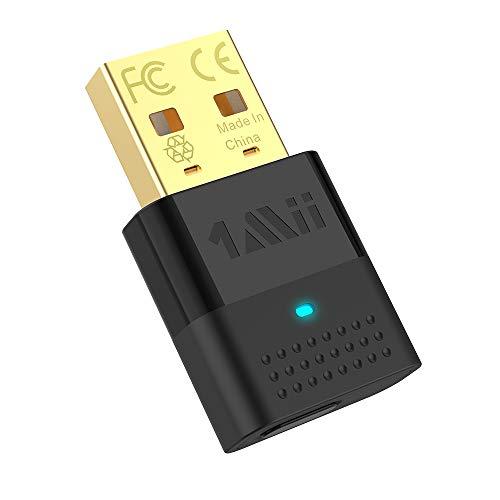 1mii USB Bluetooth Adapter für PC Bluetooth 5.0 Audio Sender, USB Audio Adapter Dual-Verbindung mit APTX LL & APTX HD für Audiogeräte wie PC PS4 Kopfhörer Lautsprecher (Nur für Audio)