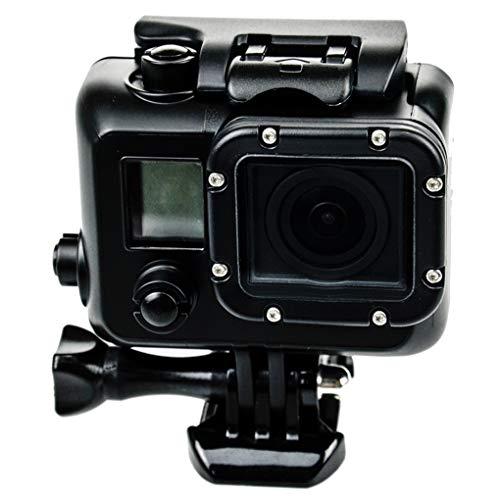 Demino Waterdichte Hoesje Verduisteringsdoos Onderwater Beschermende Duiken Behuizing Vervanging voor GoPro Hero 3 4 Camera, Zwart