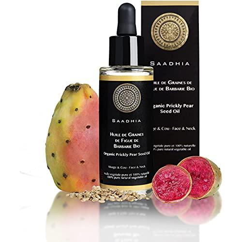 Aceite de semillas de higo chumbo, certificación ecológica, vegetal puro y 100% natural Cara, contorno de ojos y cuello.-