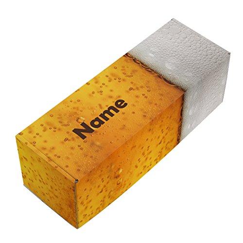 Herz & Heim® Bier-Geschenkverpackung mit Namen und Wunschtext für ein 0,33 l Bier oder ein Weizenglas