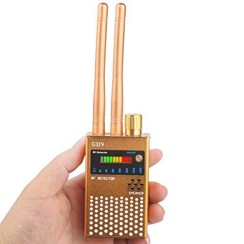 Anti-Spy RF Detector Wireless, Enhanced Dual Antenna Bug Detector Signal for GSM Finder Radar Radio Scanner,Gold