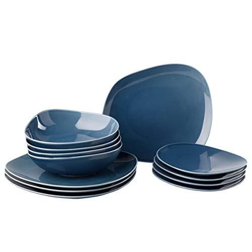 Organic Turquoise set starter di piatti, turchese, 12 pezzi