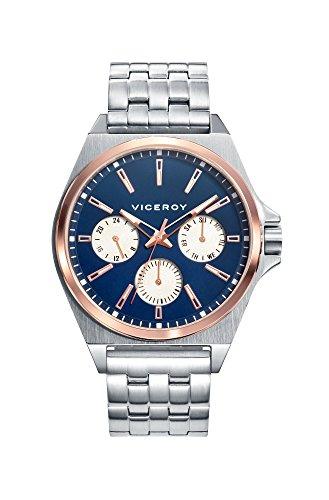 Viceroy Reloj Multiesfera para Hombre de Cuarzo con Correa en Acero Inoxidable 471149-37