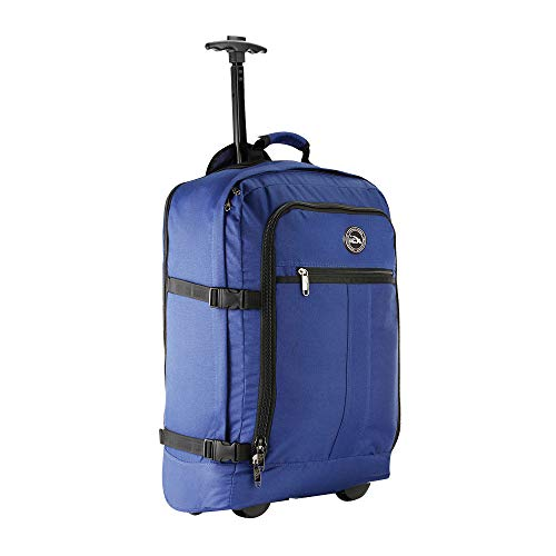 Cabin Max Lyon - Bolsa de Equipaje de Mano con Ruedas (44 L, 55 x 40 x 20 cm), Color Azul Marino