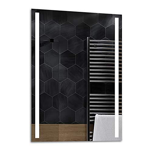 Alasta® | Badspiegel mit LED Beleuchtung | Wählen Sie Zubehör | Heizmatte zu Wähle | Wandspiegel Badezimmerspiegel Spiegel LED Badspiegel Spiegelwand | Paris