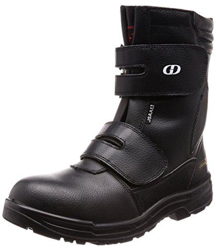 [ジーデージャパン] JSAA A種認定 半長靴 先芯部本革 後方反射材 耐油底 くるぶしパッド付き 4E GD-10 ブラック 28 cm