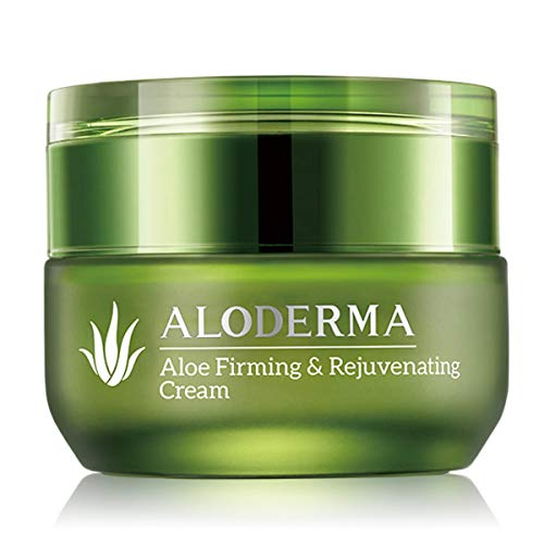 ALODERMA Firming and Rejuvenating Cream, 50g, Contains 75% Pure Organic Aloe Juice, All Natural, Helps Reduce the Appearance of Fine Lines and Wrinkles