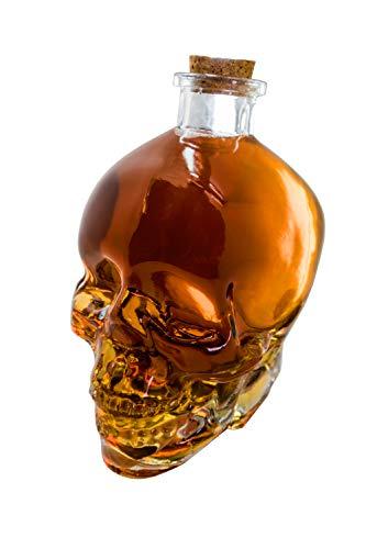 VIN BOUQUET FIA 470 Decanter per liquori in Vetro Tipo Teschio, 750 milliliters