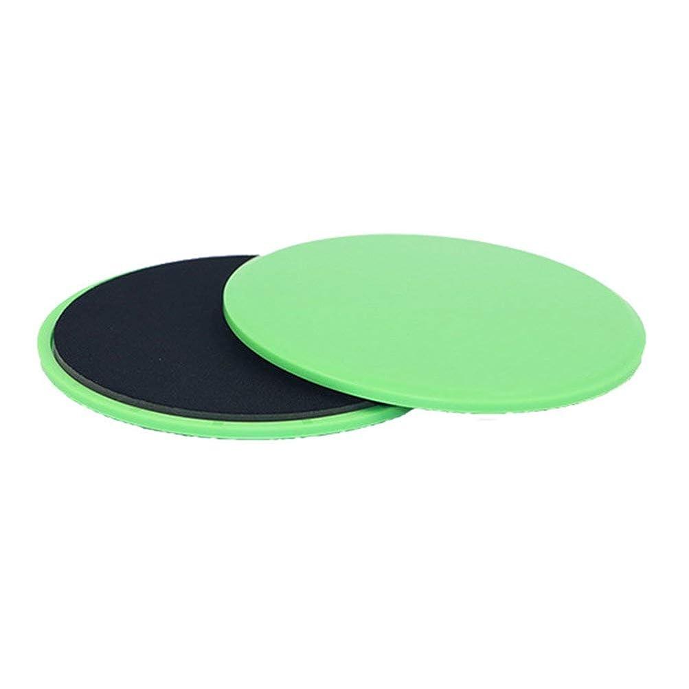 フィットネススライドグライディングディスクコーディネーション能力フィットネスエクササイズスライダーコアトレーニング用腹部と全身トレーニング - グリーン