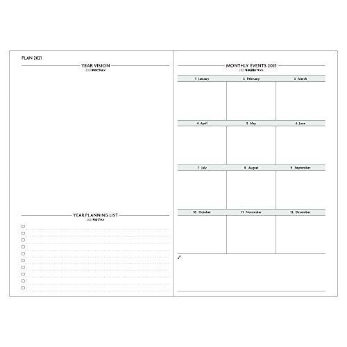 マークス手帳2021スケジュール帳ダイアリーEDiT週間バーチカル2020年12月始まりB6変型スープル21WDR-ETF01-PK