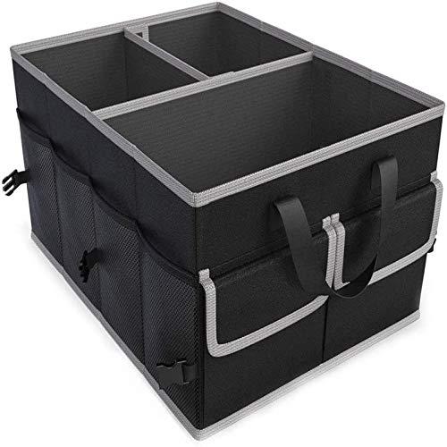 QQWER Maletero - Armario Plegable de Varios Compartimentos, Fondo Antideslizante, Mango portátil y Armario de Carga Pesada, cinturón de Seguridad Ajustable