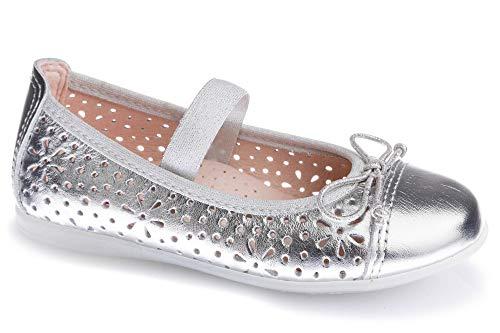 Zapatos Bailarina para niña Pablosky Plateado 343950