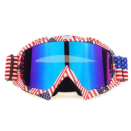 Zfeng Gafas de deportes al aire libre Off-road downhill moto equitación equipo esquí anti-viento y arena salpicaduras gafas anti-impacto y polvo protección ocular-U