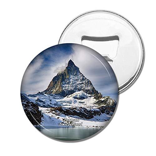 Weekino Schweiz Matterhorn Ski Paradise Zermatt Bier Flaschenöffner Kühlschrank Magnet Metall Souvenir Reise Gift