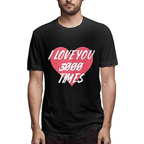 UROSA Fashion Men's Printing Round Neck Short Sleeve T-Shirt Casual Loose Top Blouse 2019 Black