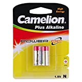 LR1, E90N, MN9100, SUM5, CNB-AM5, 910A, 4001, E90, KN, 810, 23-023, AM5, UM5, UM-5, Lady Battery Camelion LR1-BP2:N Alkaline Battery Bulk used in small desk clocks, wireless microphones and laser pointers