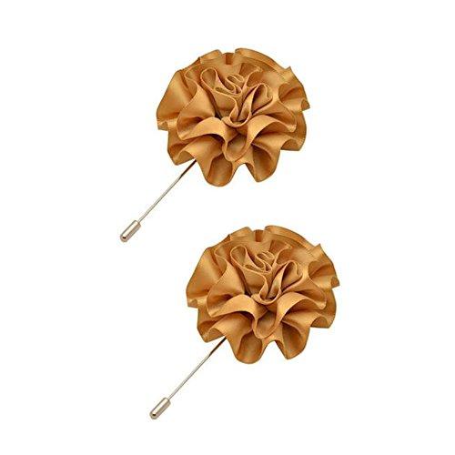2PCS broches Broche Broches Broches élégantes décoration pour dames, Café Léger
