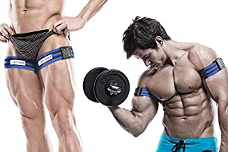 BFR BANDS PRO Blood Flow Restriction Bands for Arms, Legs or Glutes - Occlusion Training Bands Help Gain Muscle Without Heavy Weight Lifting, Strong Elastic Strap + Quick-Release