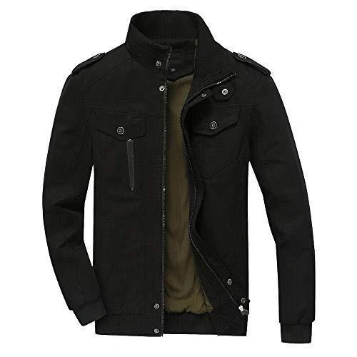 Manteau en Cuir Imitation de Col Montant Veste pour Hommes Symétrique à Glissière Hiver Veste de Poche Zippée en Tricot Cardigan à Manches Longues Trench Zipper Coat