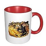 Vdaras Tazas de café Sanji Vinsmoke de paja sombrero piratas O-N-E-Piece tazas de café adecuadas para capuchino, té,...