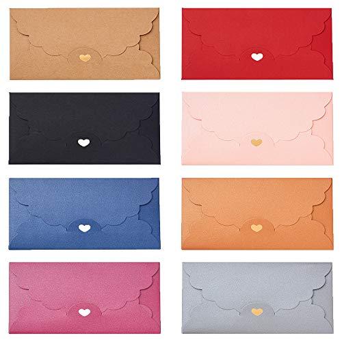 Mini Sobre,40 Piezas Mini Sobres para Tarjetas de Regalo,Sobres Pequeños,Colores de Invitación Sobres,Multicolor Pequeño...