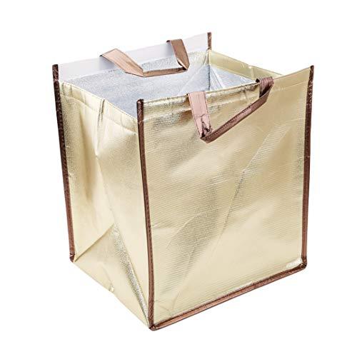 Underleaf Gold-Kuchen-Kühltasche-Isolierungs-Paket-Mittagessen-Taschen halten Nahrung-frische Kalte-haltene Tasche Aluminiumfolie-Frischhaltungstasche, 8Inch