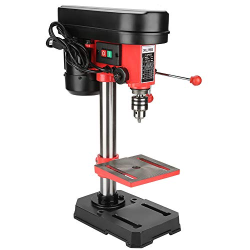 Drill Press, Mini Bench Drill Press Stand Workbench Mounted with Solid Cast Iron Base for Drill Workbench Repair Tool 350W 5 Speed 50mm US Plug 110V