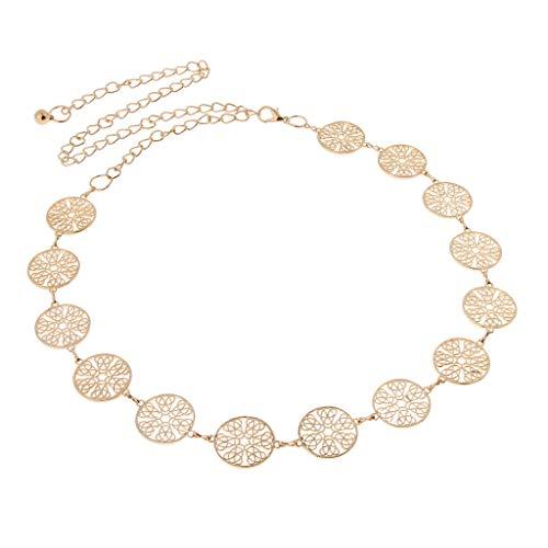 Sharplace Damen Münzen Metallgürtel Taille Kette Gürtel Körperschmuck Bauchketten Quastenkette