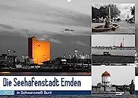 Die Seehafenstadt Emden - in Schwarzweiss Bunt (Wandkalender 2022 DIN A2 quer): Der Fotograf Rolf Poetsch zeigt hier colorierte Schwarzweiss-Fotos aus der Seehafenstadt Emden. (Monatskalender, 14 Seiten )