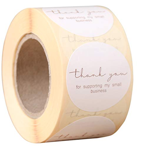 """Professional Design for Business, 500 Thank You for Supporting My Small Business Stickers, 1.5"""" Round, Great for Online Retailers, Boutiques, Shops to Use on Bags, Gift Boxes and Envelopes"""