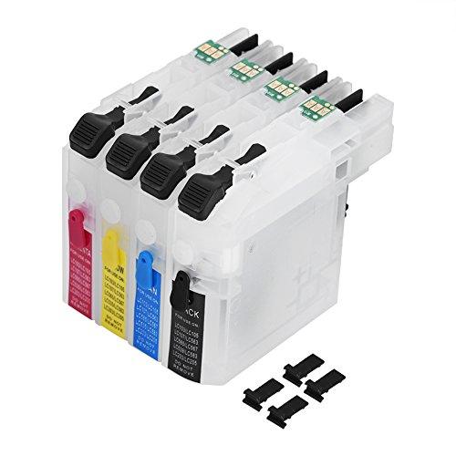 Ongoion Nachfüllbare Tintenpatronen, Nachfüllbare Universalpatrone mit Chip LC261/LC263für Brother DCP-J562DW/MFC-J480DW/680DW 3D-Teile Drucker-Tintenpatrone