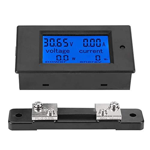 Misuratore Di Corrente Di Tensione,50A 100A 6,5-100 V DC Multimetro Digitale Shunt Corrente LCD Contatore...